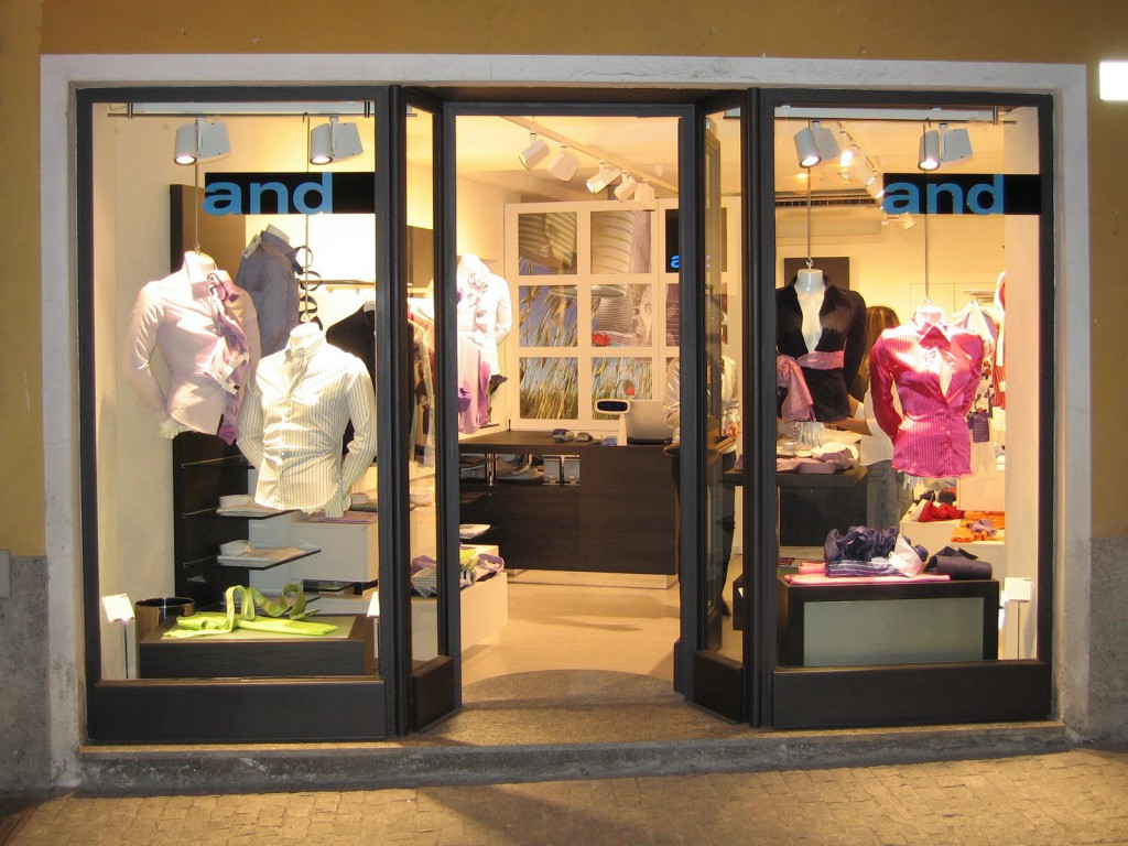vetrina per negozi