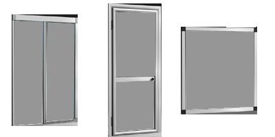 Zanzariere in alluminio a scorrimento verticale orizzontale e schermo fisso - Zanzariere per finestre ...