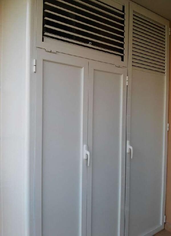 armadio in alluminio