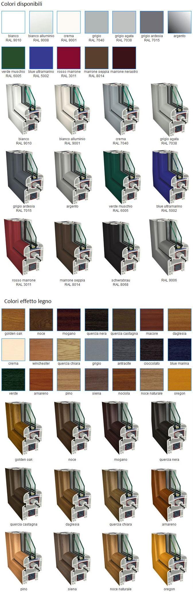 Colori pvc infissi roma finestre in pvc infissi in for Colori finestre pvc
