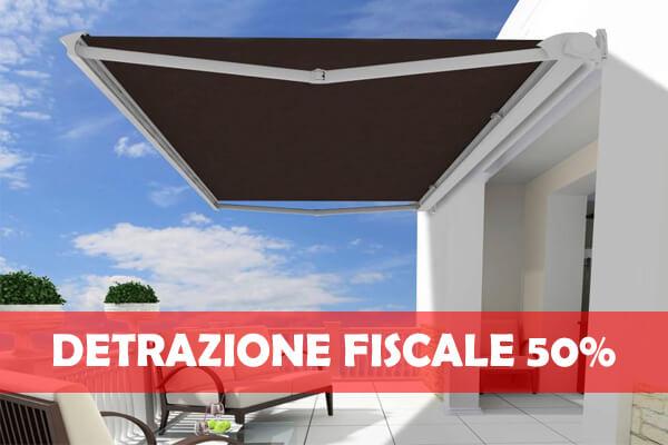 Tende da sole per balconi terrazzi e attici tessuti for Detrazione 50